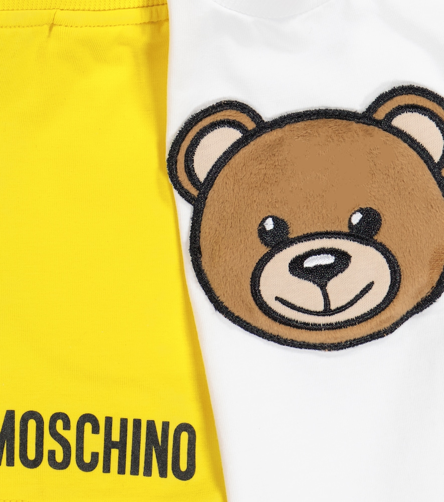 MOSCHINO Cottons BABY STRETCH-COTTON T-SHIRT AND SHORTS SET