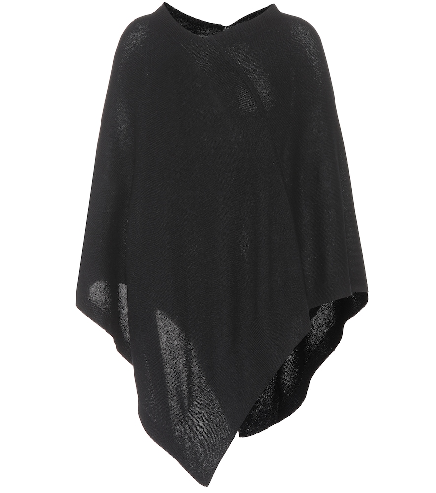 81 HOURS Conor Cashmere Poncho in Black