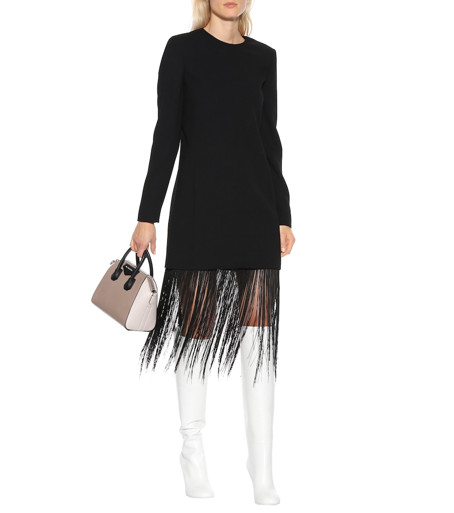 Fringed wool minidress by Givenchy