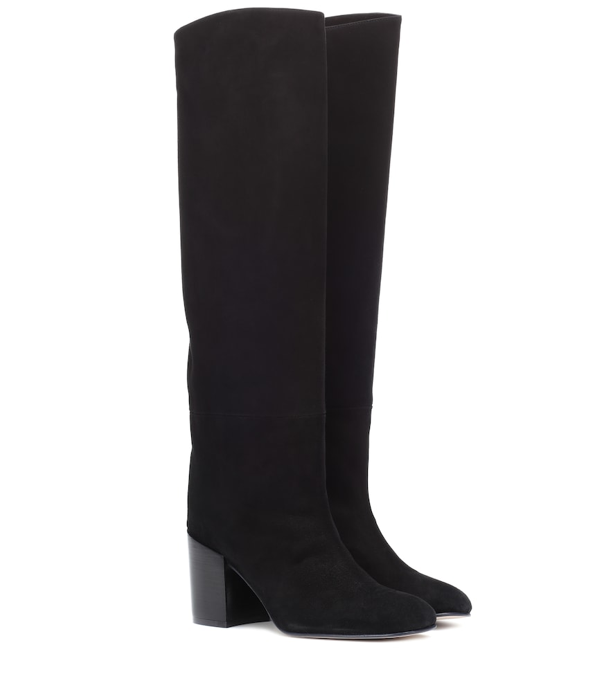 Tubo Suede Knee-High Boots in Black from STUART WEITZMAN