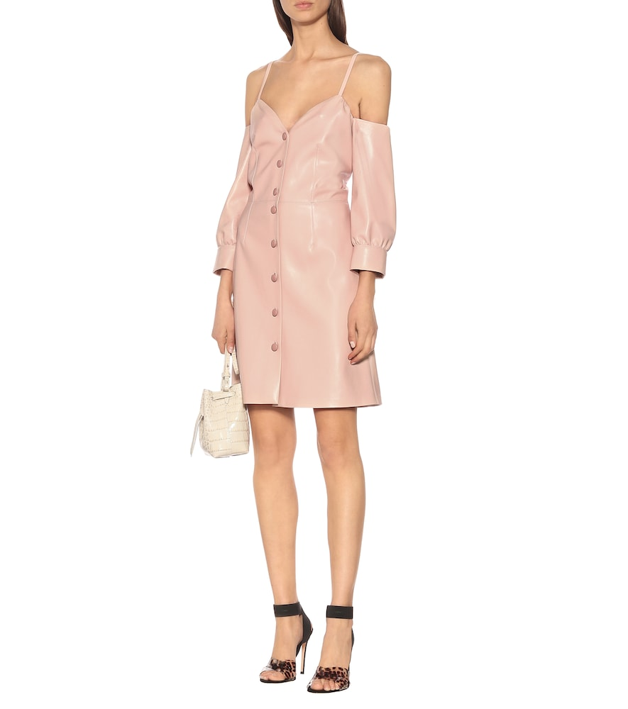 Exclusive to Mytheresa – Shreya faux leather dress by Nanushka