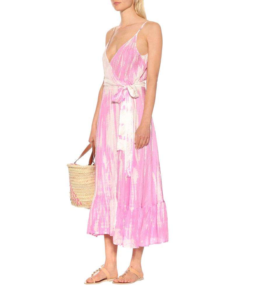 Exclusive to Mytheresa - tie-dye silk dress by Anna Kosturova