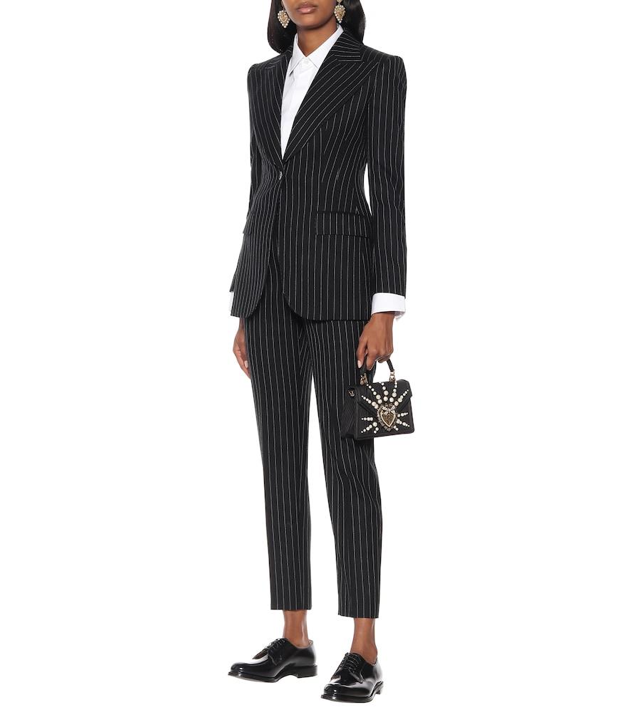 Pinstripe wool-blend blazer by Dolce & Gabbana