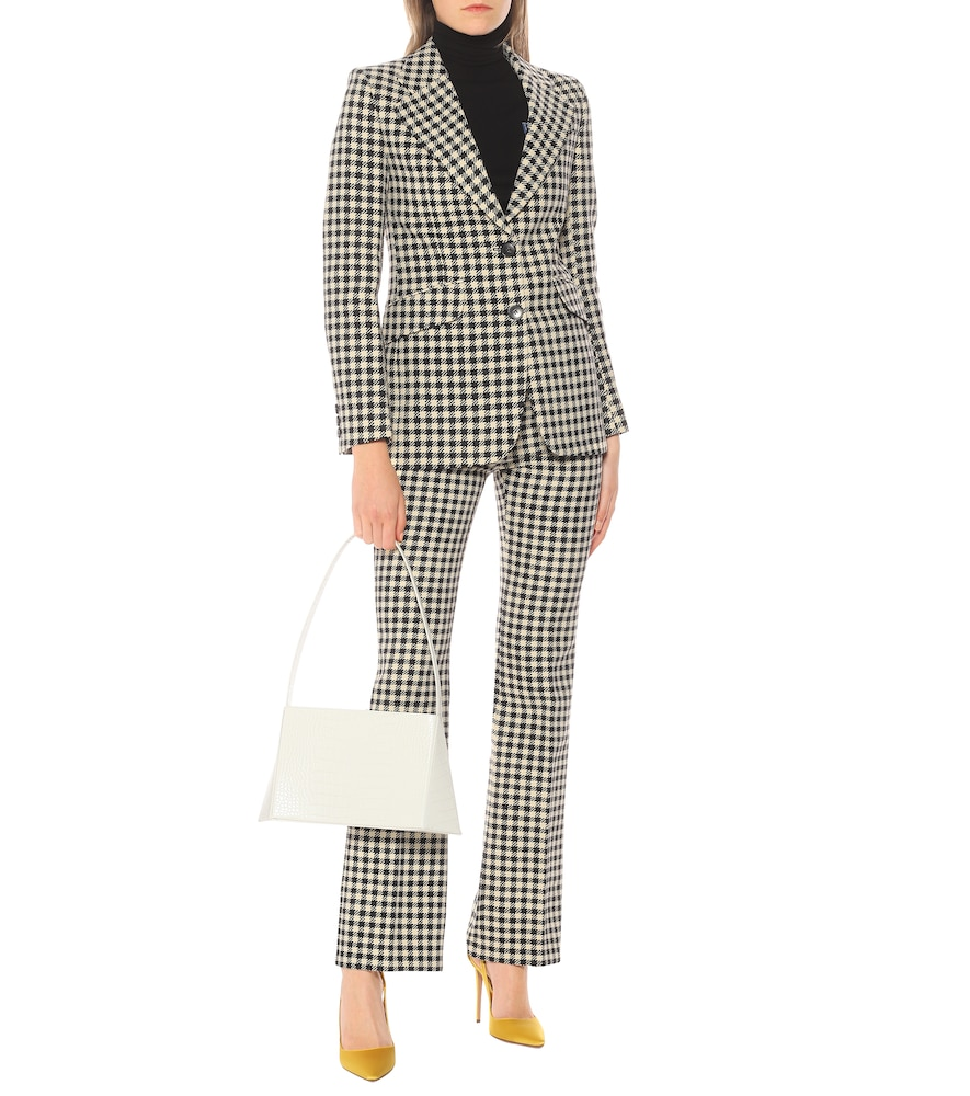 Houndstooth single-breasted blazer by Victoria Beckham