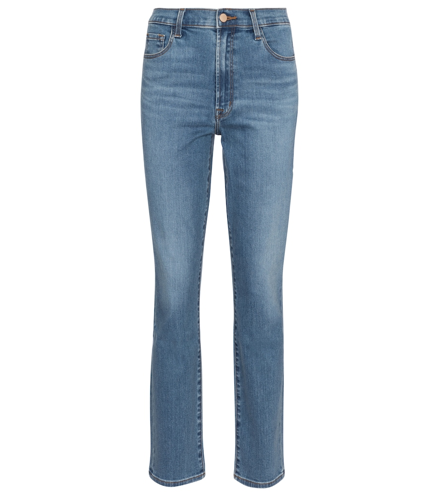 J Brand Cottons TEAGAN HIGH-RISE SLIM JEANS