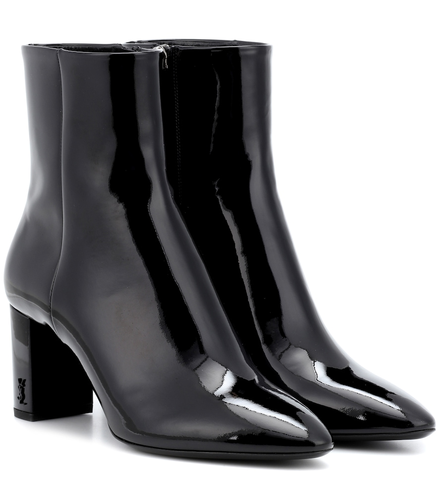 Lou 70 Patent Leather Ankle Boots in Black