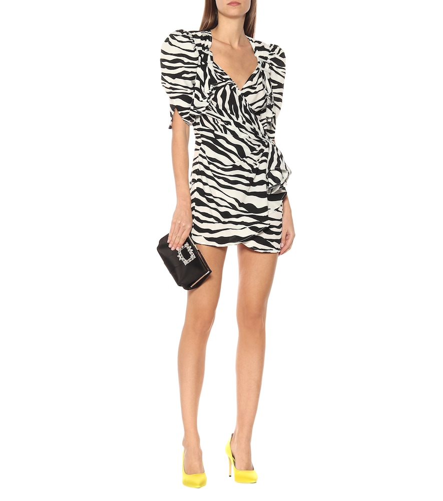 Pat zebra-print wrap minidress by The Attico