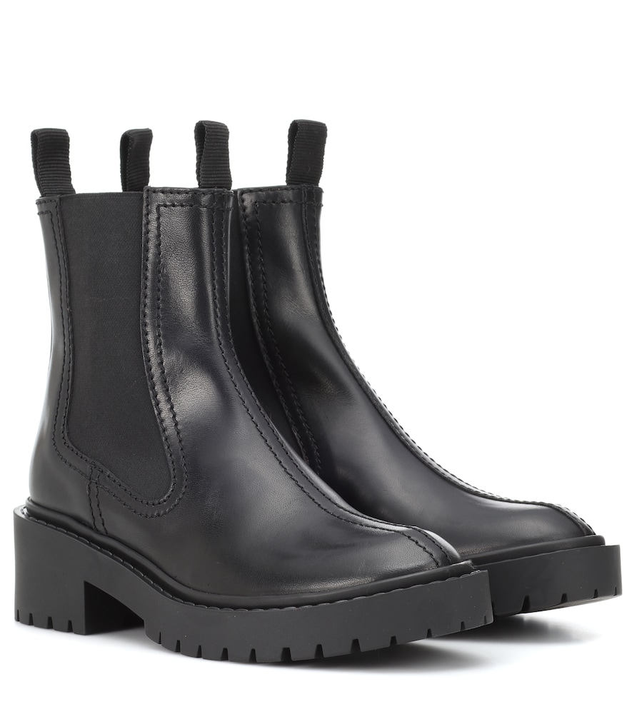 Smooth-Leather Chelsea Boots, Black