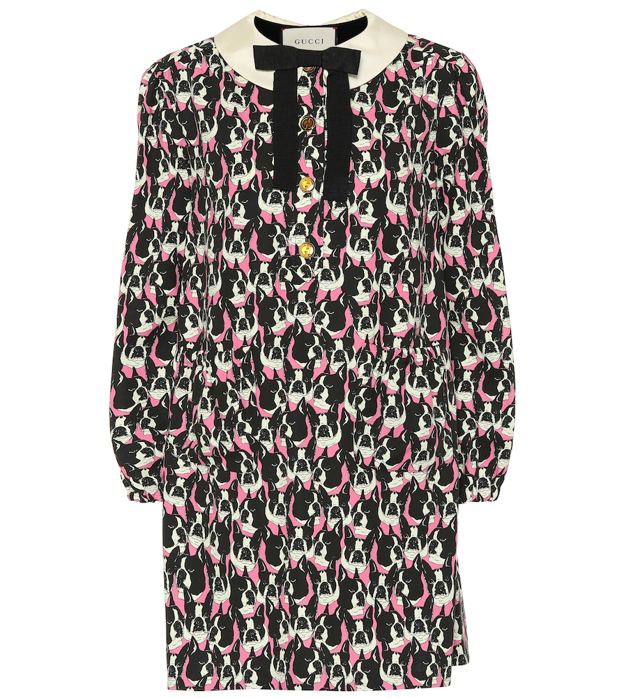 DOG-PRINTED COTTON DRESS