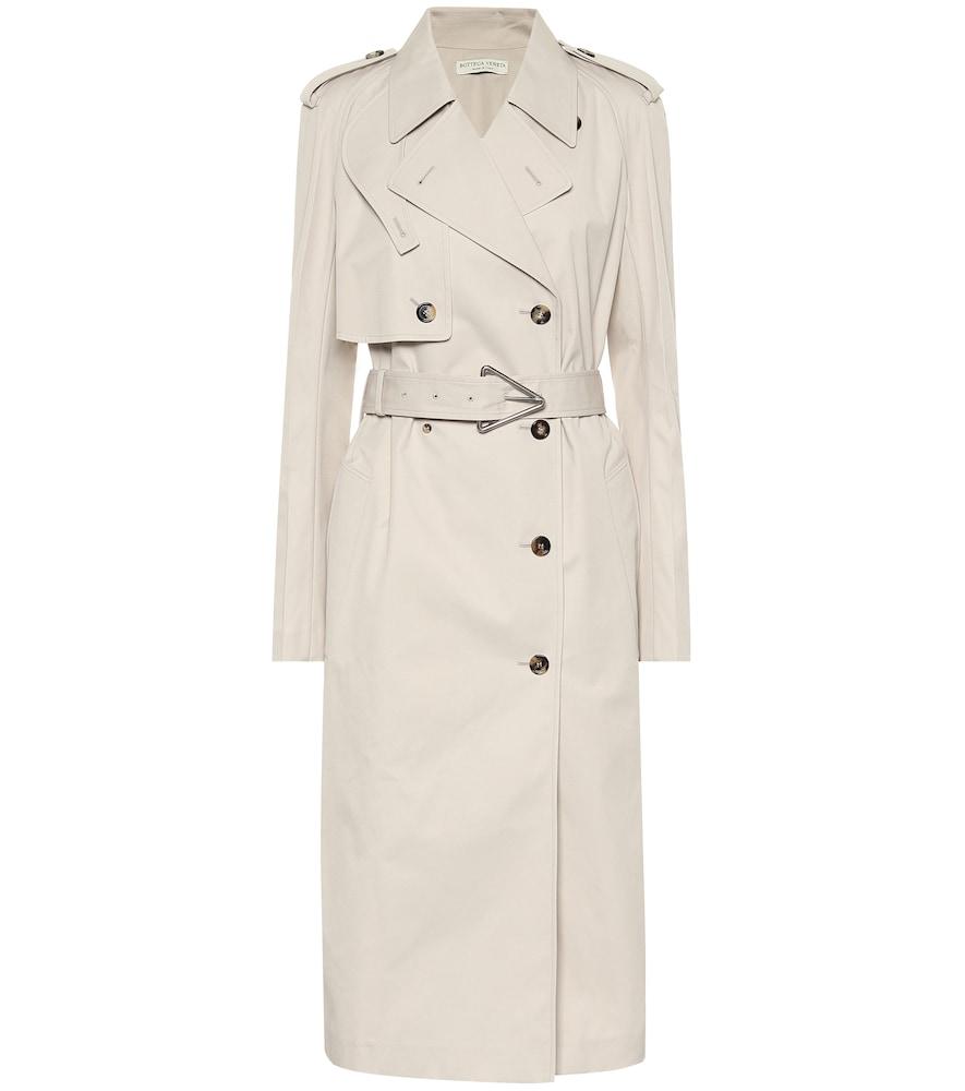 Trench-coat en gabardine de coton mélangé - Bottega Veneta - Modalova