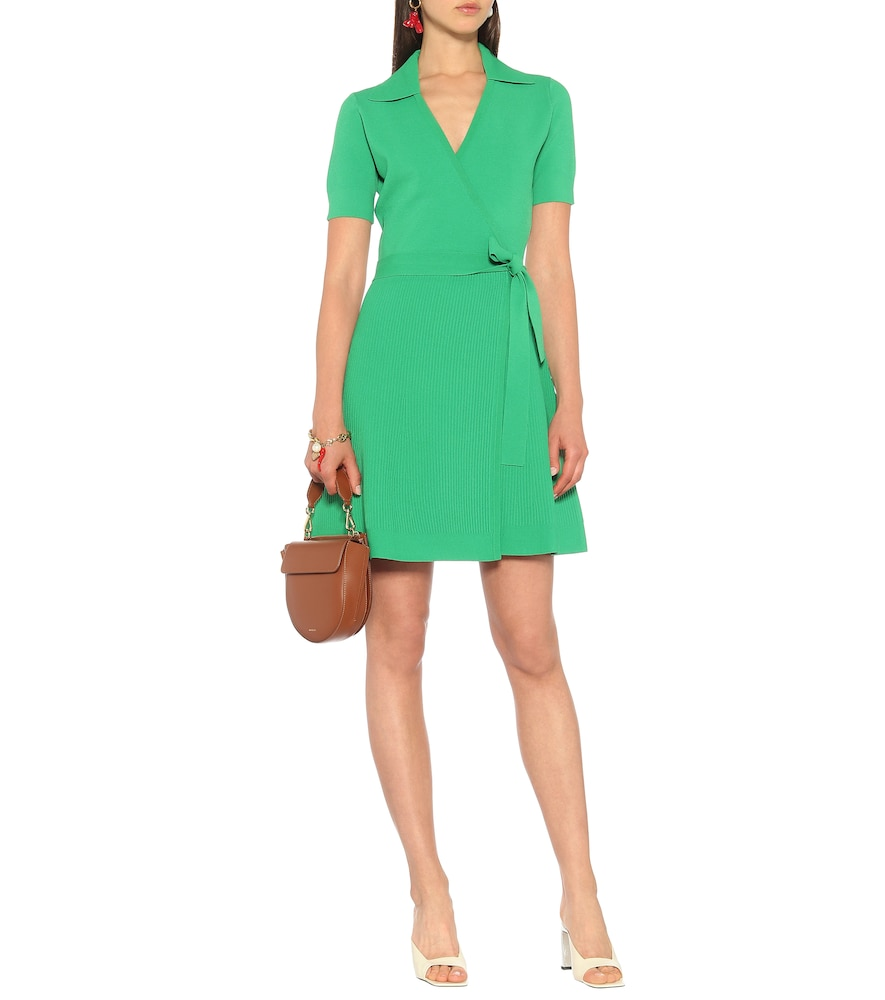 Zyla stretch knit mini wrap dress by Diane von Furstenberg