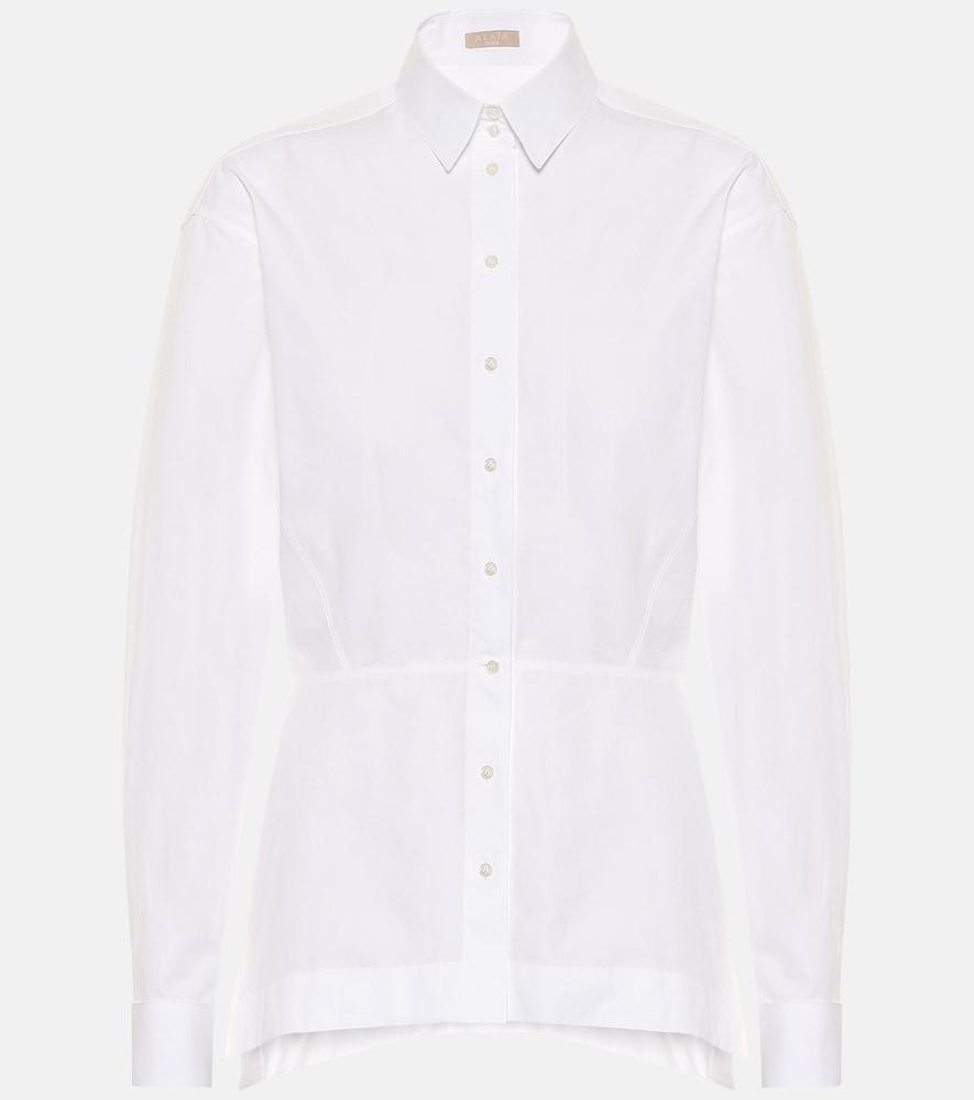 Alaïa Women's Edition 1986 Basque Poplin Shirt In White