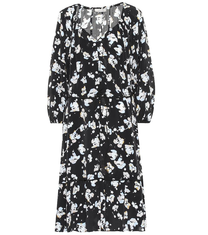 Robe Artistic Blossoms imprimée en soie mélangée