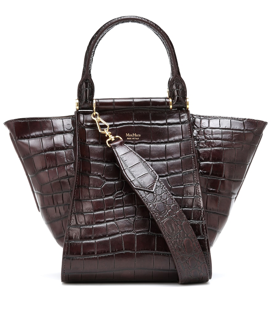 MAX MARA | Anita S Croc-Effect Leather Tote | Goxip