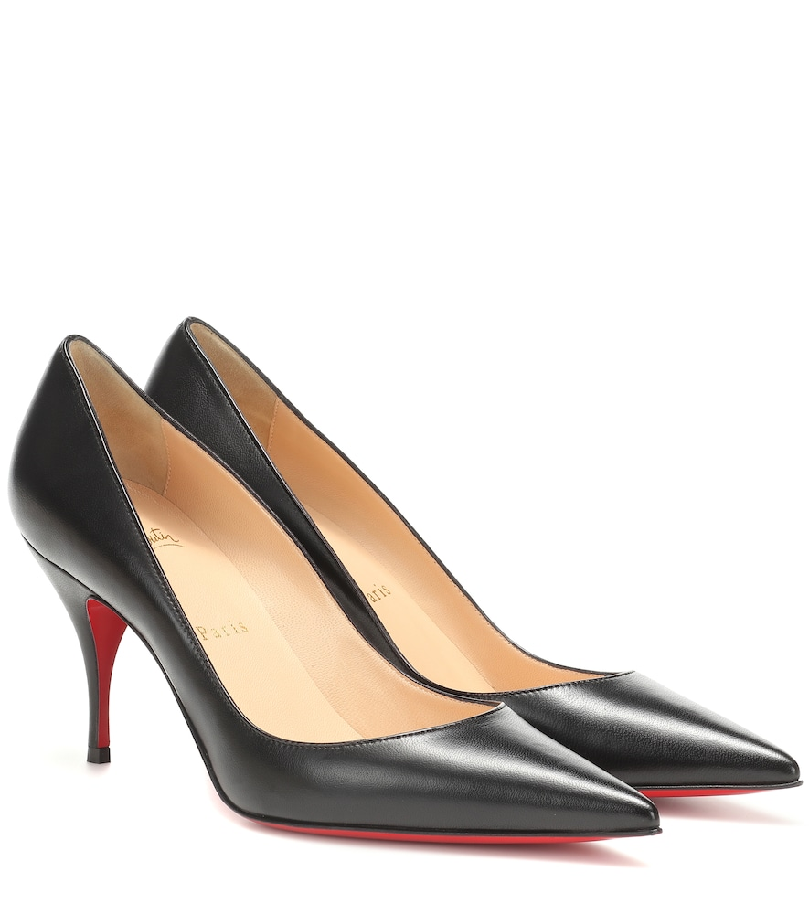 CHRISTIAN LOUBOUTIN | Clare 80 Nappa Leather Pumps | Goxip