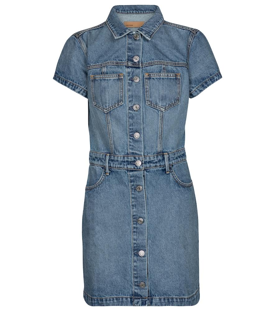 Macie cotton denim minidress