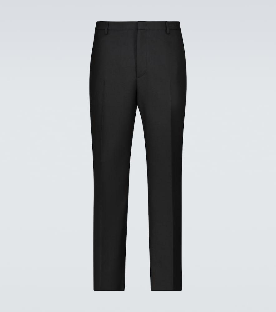 Valentino Straight-fit Pants With Embroidery In Black