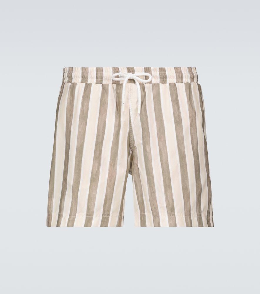 Flag striped swim shorts