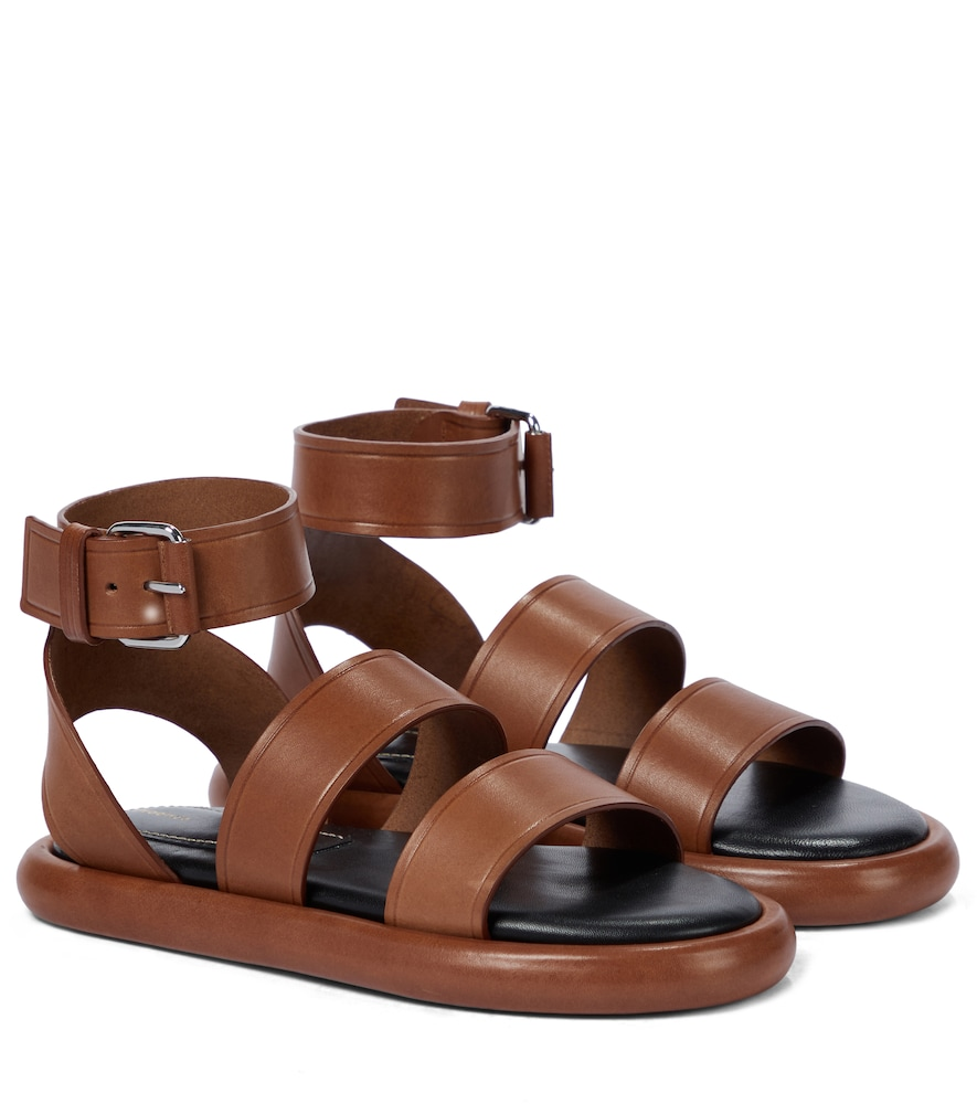 Proenza Schouler PIPE LEATHER SANDALS