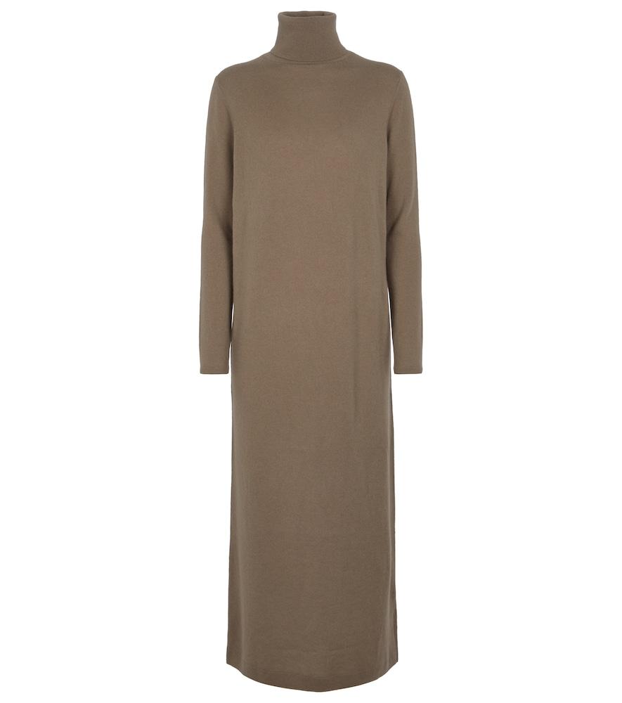Wool and cashmere sweater midi dress