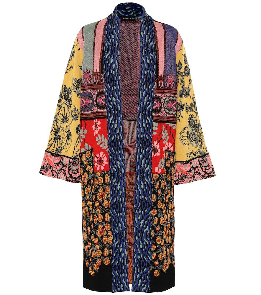 ETRO | Jacquard Wool-Blend Cardigan | Goxip