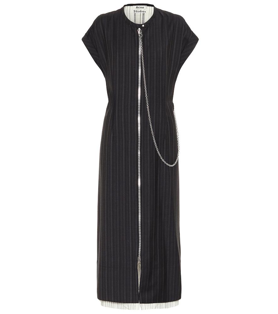 Pinstriped midi dress by Acne Studios