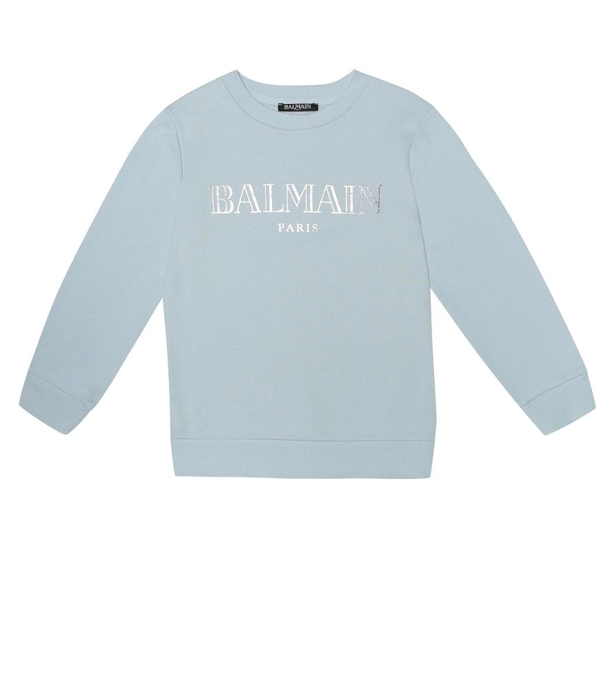BALMAIN KIDS | Logo Cotton Sweatshirt | Goxip
