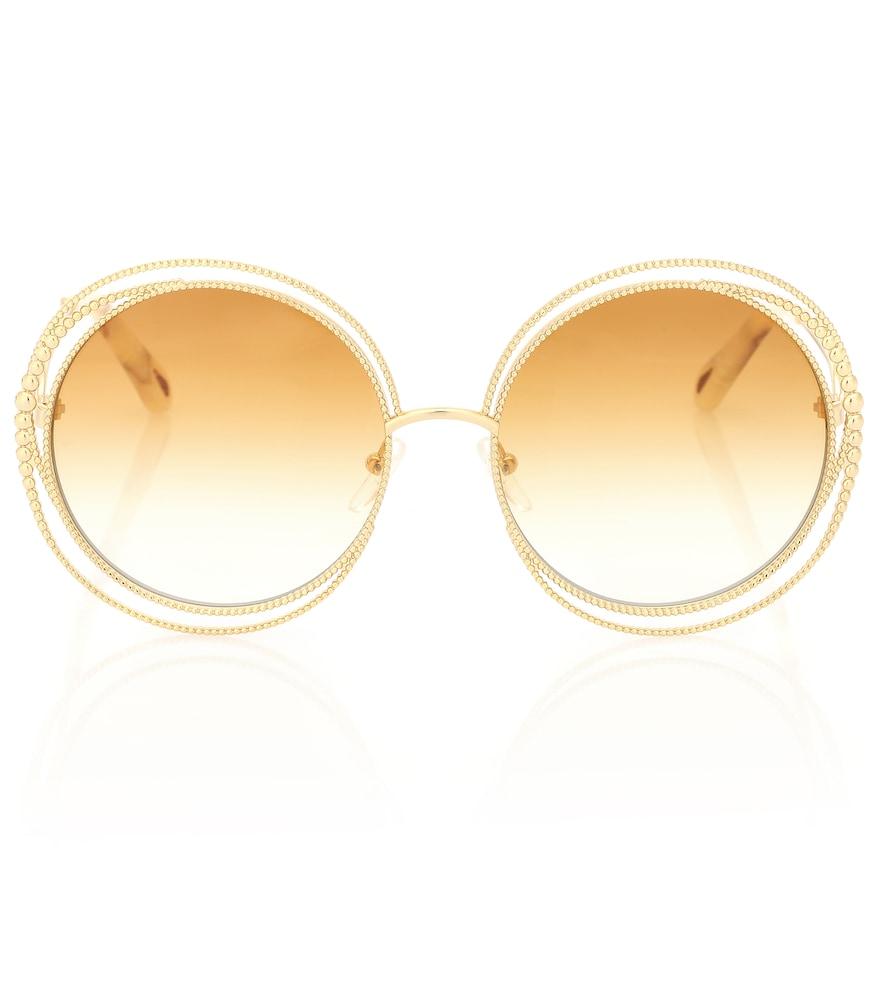 ChloÉ Women's Carlina Oversized Round Sunglasses, 58Mm In Yellow