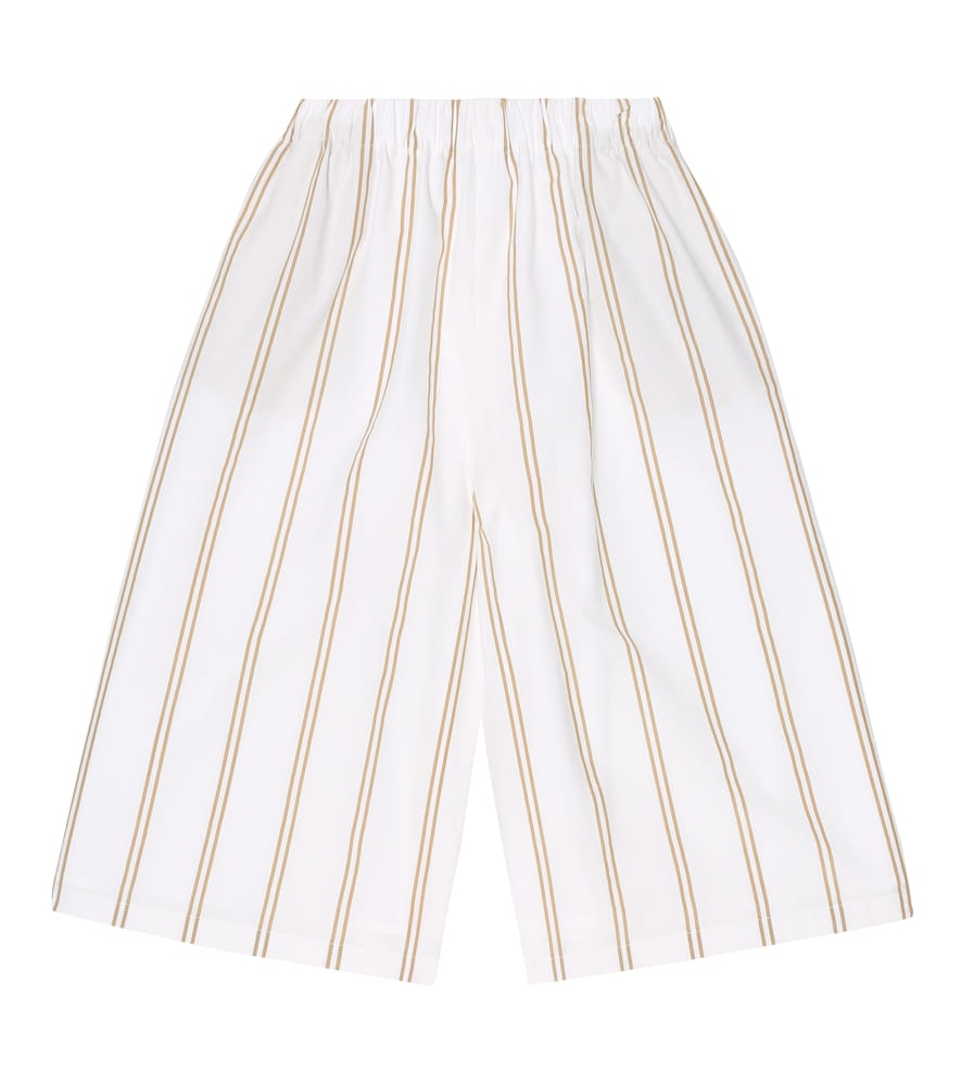 Brunello Cucinelli STRIPED COTTON CULOTTES