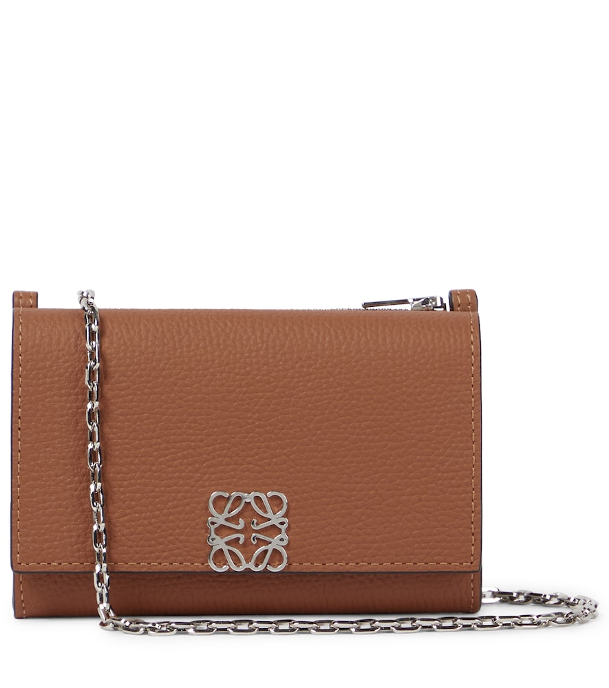 Anagram Small leather clutch