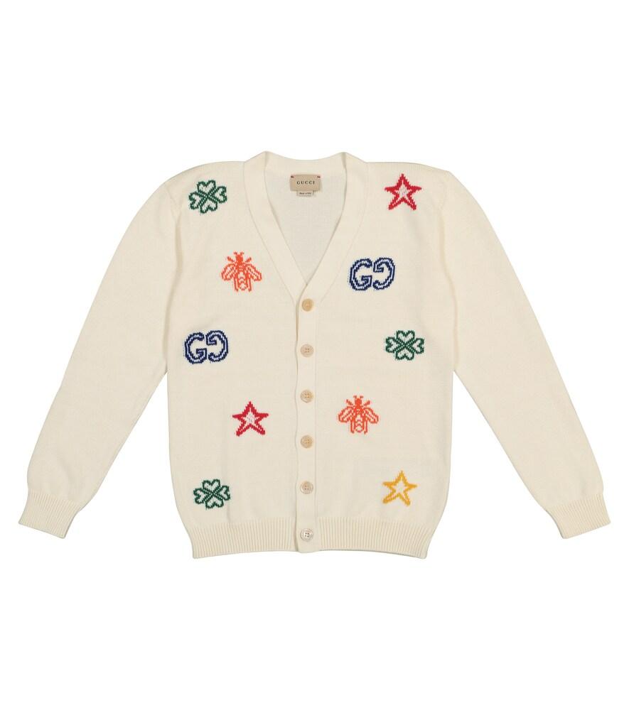 Cotton jacquard cardigan
