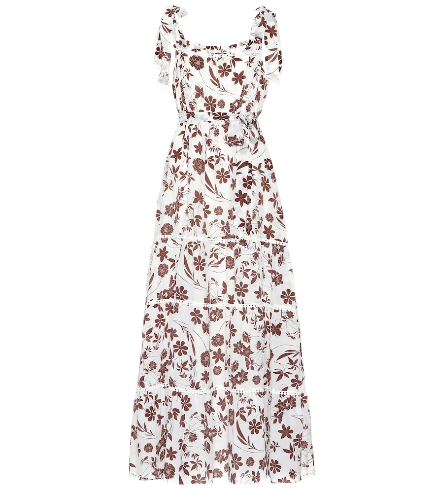 ATHENA PROCOPIOU With Carly Floral Silk Dress in Brown