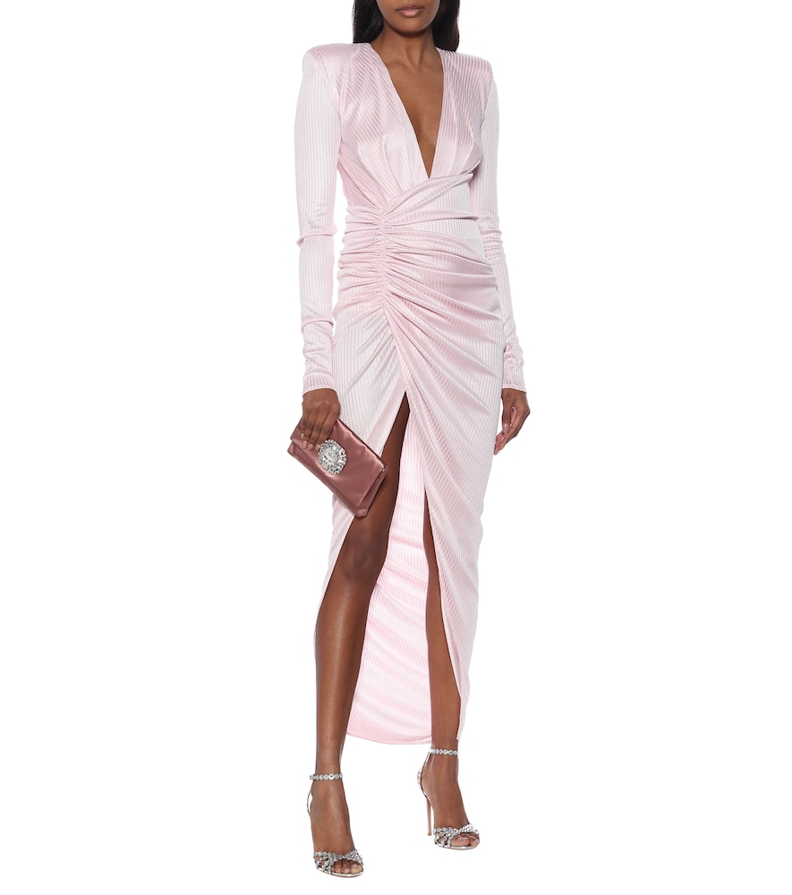 Metallic ribbed-knit gown by Alexandre Vauthier