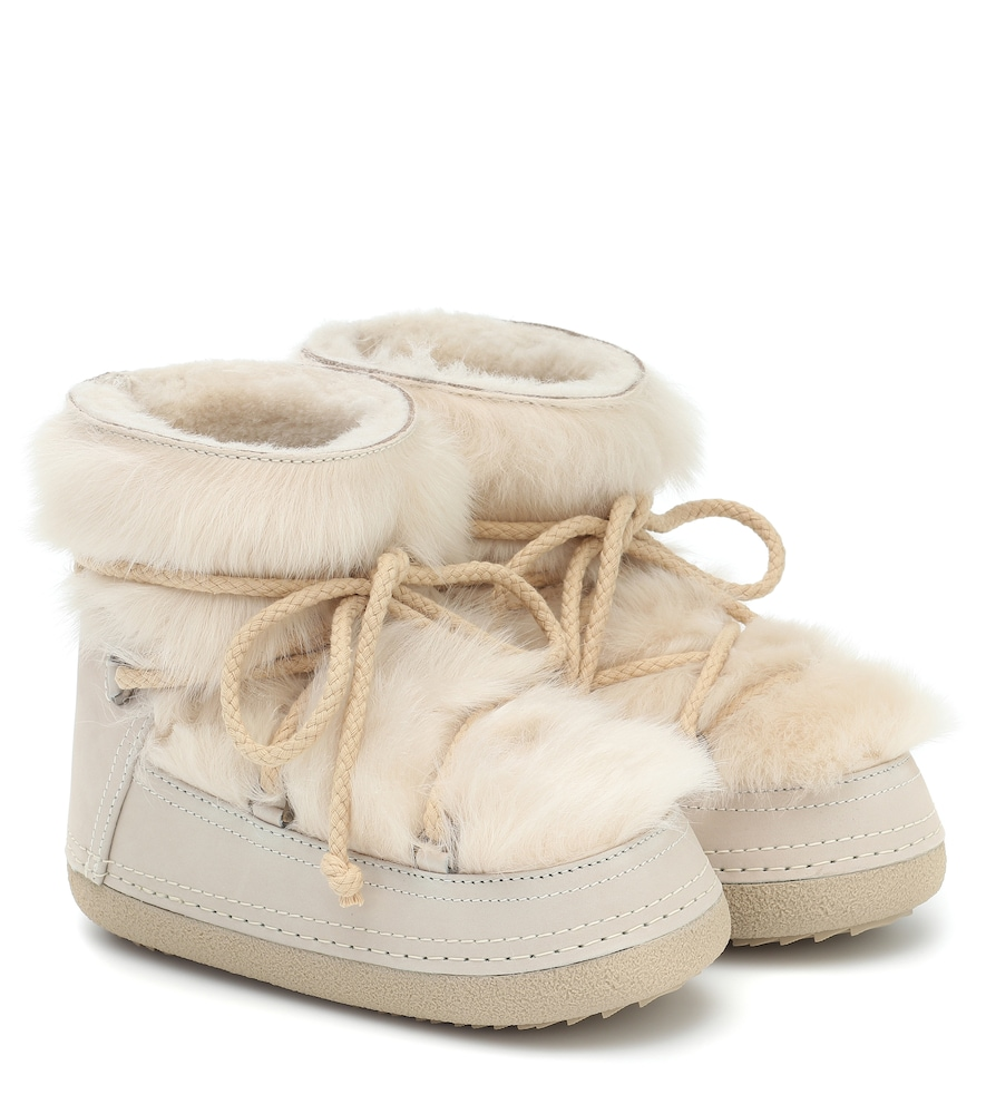 Toskana shearling and suede boots