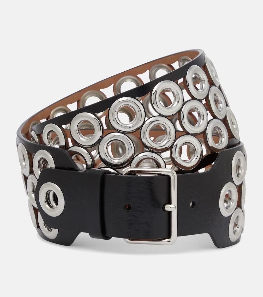 Alaïa Embellished Leather Belt In Black
