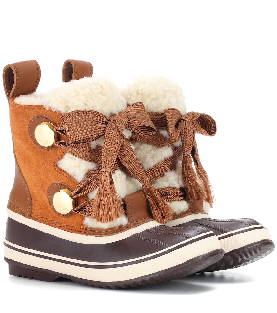 CHLOÉ | X Sorel Joan Of Arctic Suede Boots | Goxip