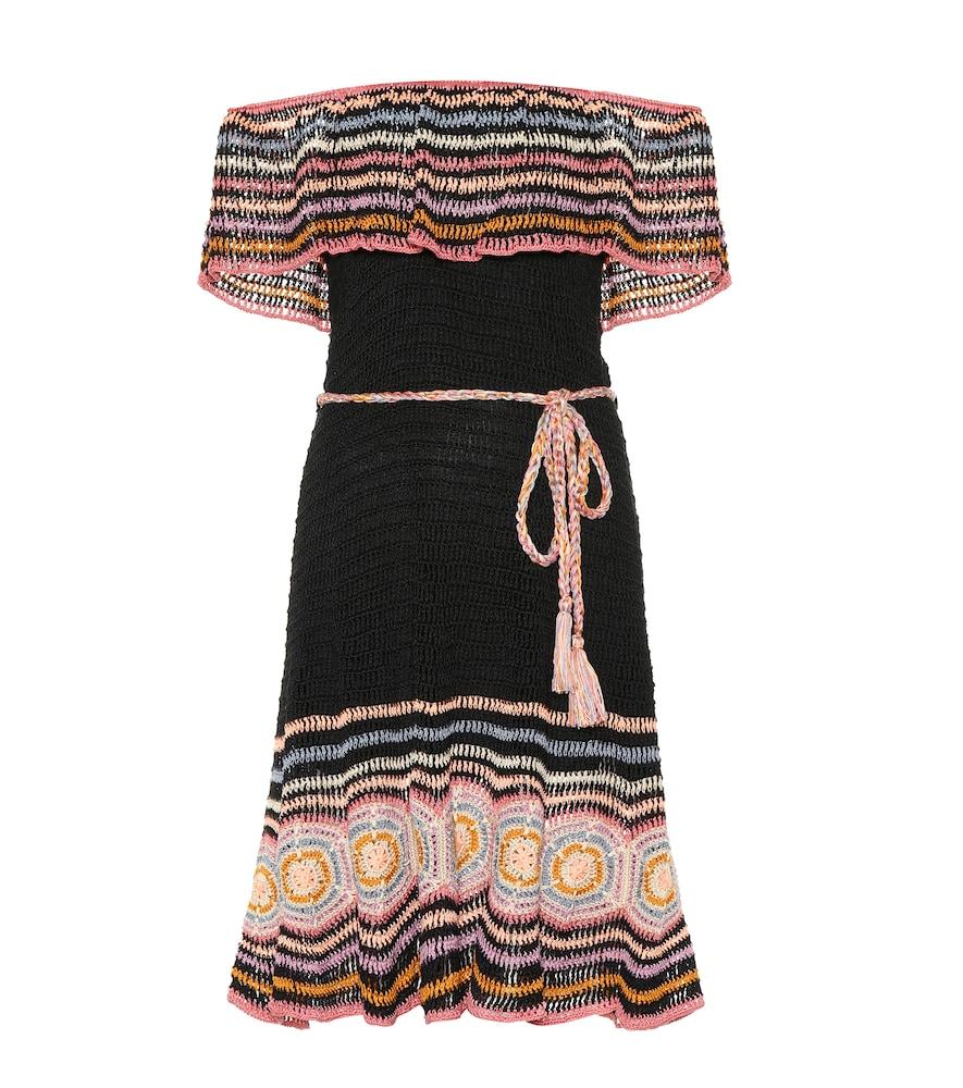 ANNA KOSTUROVA Carmen Crochet Dress in Multicoloured