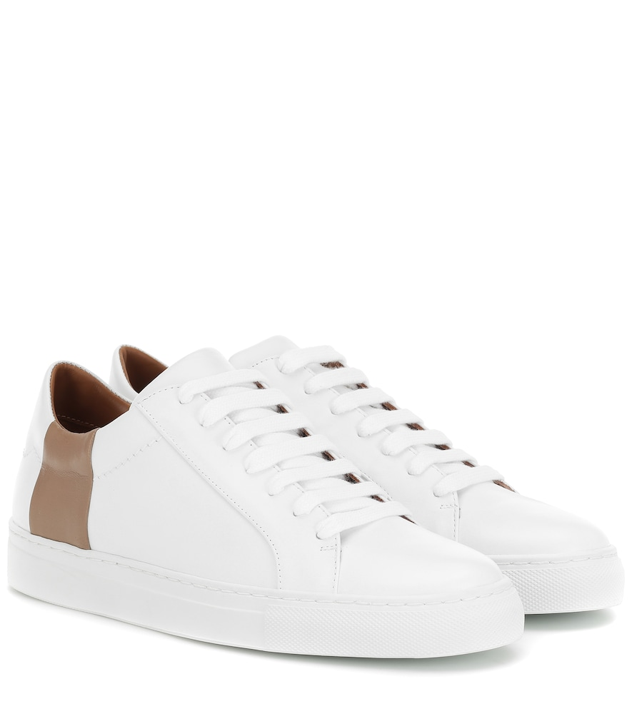 Joseph Leather Sneakers In White