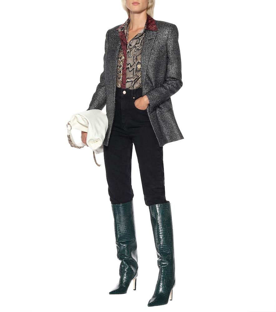 Mavis 85 leather knee-high boots by Jimmy Choo