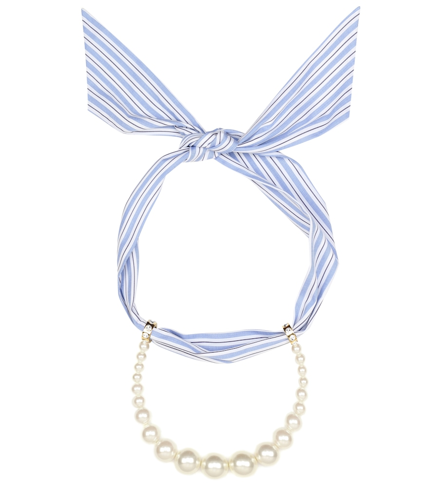 Collier à perles fantaisie - Miu Miu - Modalova