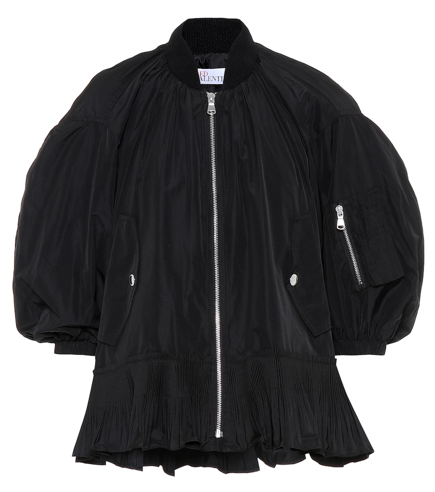 Ruffle-trimmed bomber jacket by REDValentino