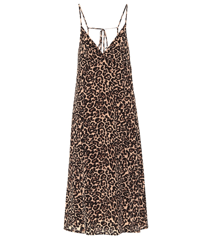Asta leopard-print midi dress
