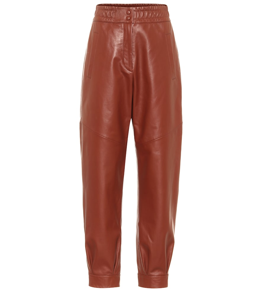 Chilling leather pants