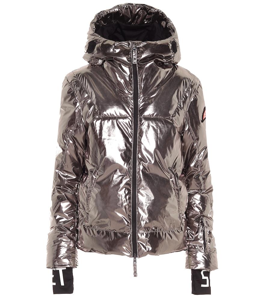 Julia metallic padded ski jacket