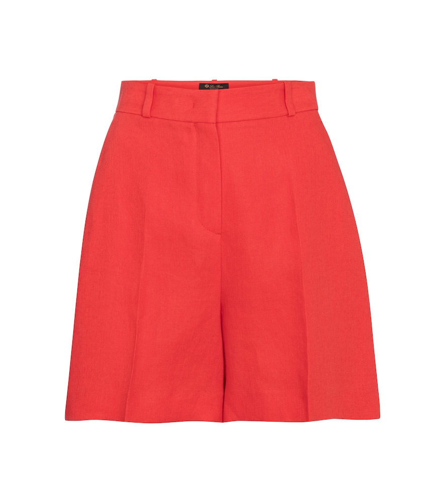 Loro Piana EMIL HIGH-RISE LINEN SHORTS