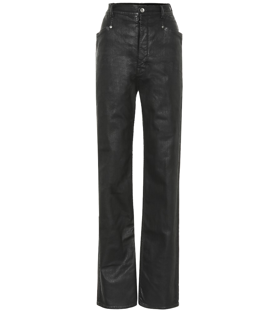 Rick Owens Jeans DRKSHDW LACQUERED STRAIGHT JEANS