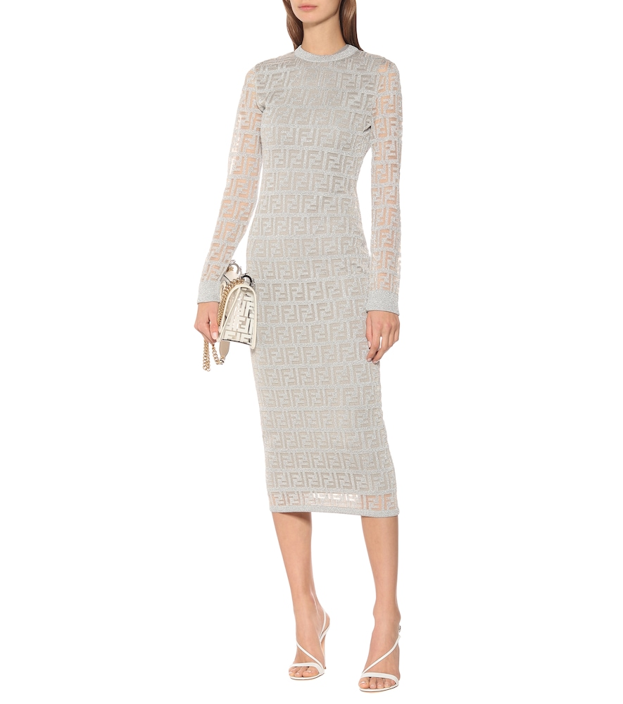 FF mesh midi dress by Fendi