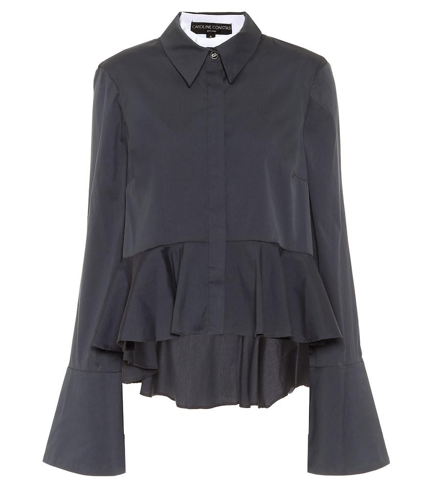 Leslie cotton-blend poplin shirt