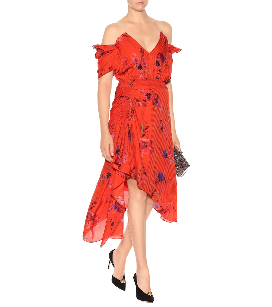 Dana floral silk dress by Preen by Thornton Bregazzi