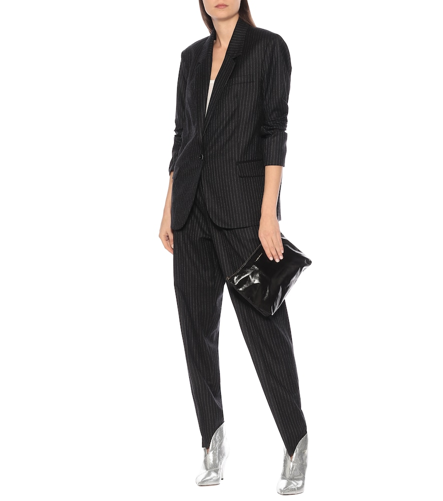 Photo of Melinda pinstripe wool blazer by Isabel Marant - shop Isabel Marant Jackets, Blazers online